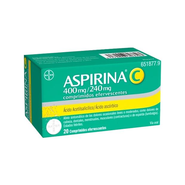 Imagen del producto ASPIRINA C 400/240 MG 20 COMPRIMIDOS EFERVESCENTES