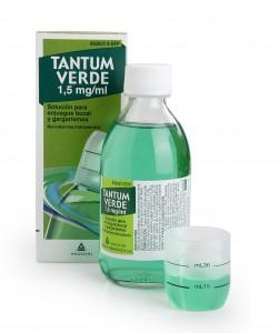 Imagen del producto TANTUM VERDE 1,5 MG/ML SOLUCIÓN PARA ENJUAGE BUCAL Y GARGARISMOS, FRASCO DE 240 ML