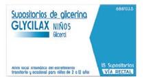 Imagen del producto SUPOSITORIOS DE GLICERINA GLYCILAX NIÑOS, 15 SUPOSITORIOS