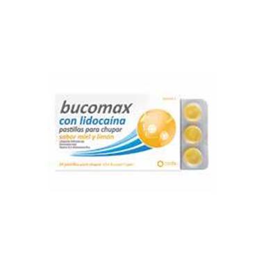 Imagen del producto BUCOMAX LIDOCAINA SABOR LIMÓN 24 PASTILLAS PARA CHUPAR