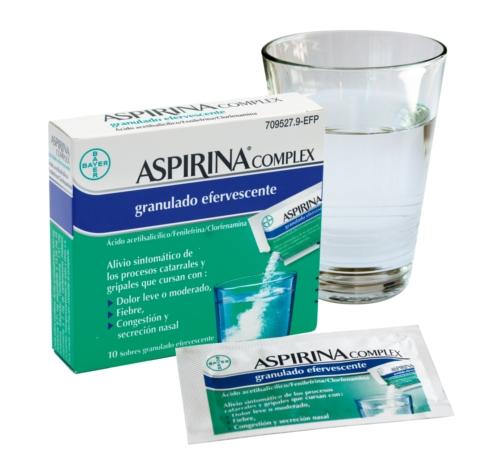 Imagen del producto ASPIRINA COMPLEX GRANULADO EFERVESCENTE 10 SOBRES