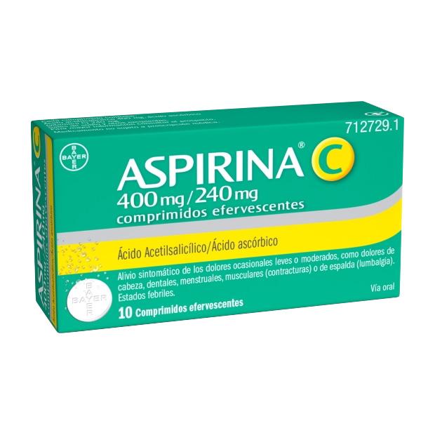 Imagen del producto ASPIRINA C 400/240 MG 10 COMPRIMIDOS EFERVESCENTES