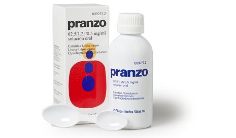 Imagen del producto PRANZO 62,5 /1,25 /0,5 MG/ML SOLUCIÓN ORAL , 200 ML