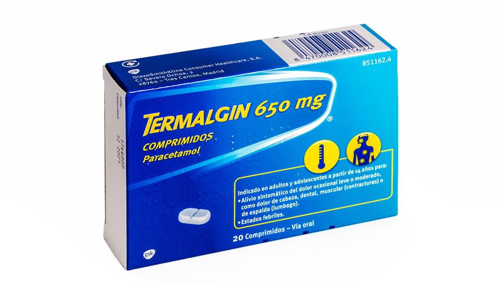 Imagen del producto TERMALGIN 650 MG 20 COMPRIMIDOS