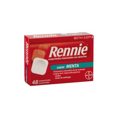 Imagen del producto RENNIE COMPRIMIDOS MASTICABLES CON SACARINA,  48 COMPRIMIDOS