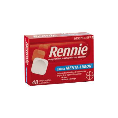 Imagen del producto RENNIE COMPRIMIDOS MASTICABLES CON SACAROSA, 48 COMPRIMIDOS
