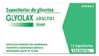 Imagen del producto SUPOSITORIOS DE GLICERINA GLYCILAX ADULTOS, 12 SUPOSITORIOS